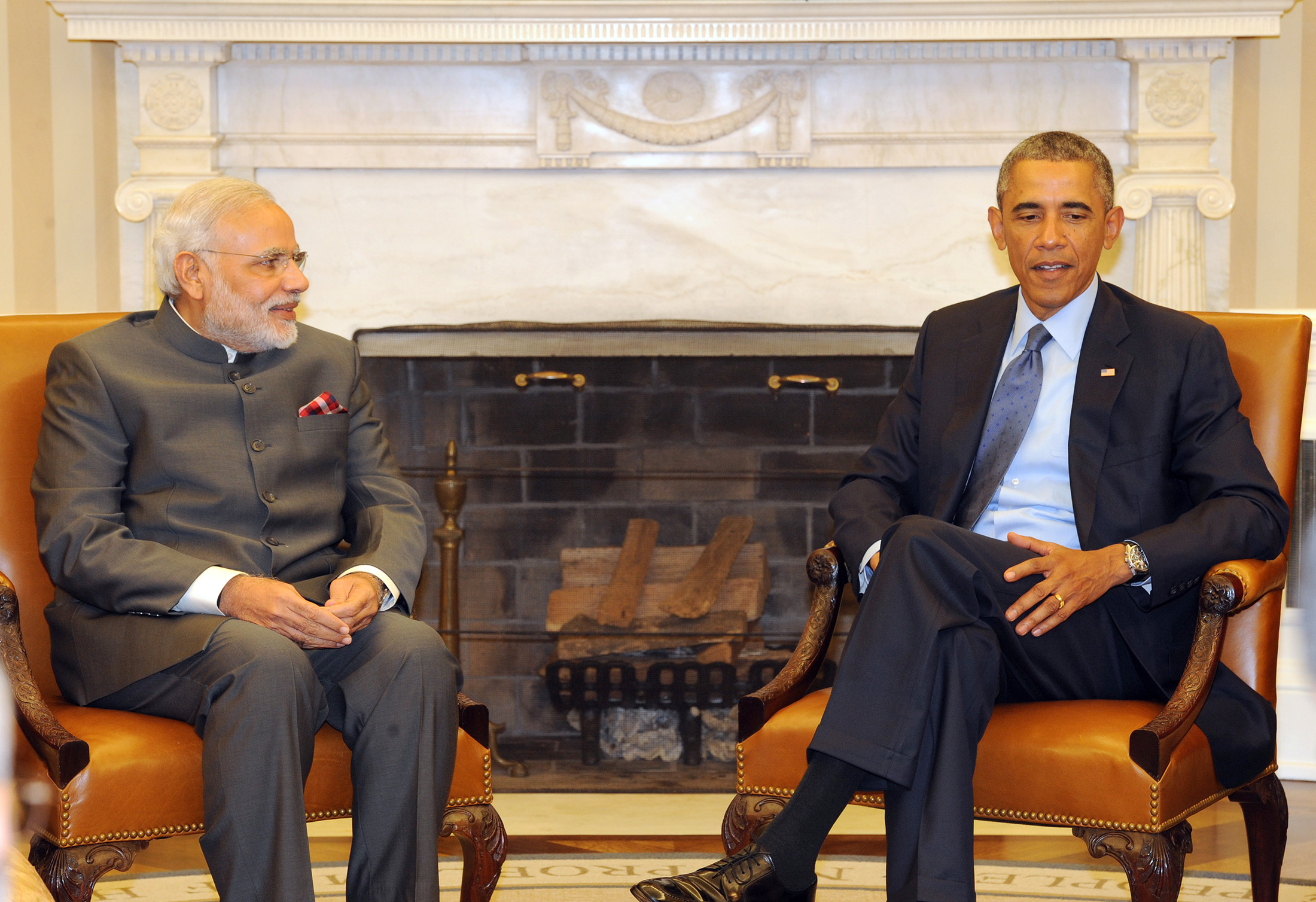 The-Prime-Minister-Narendra-Modi-in-a-bilateral-meeting-with-the-US-PresidentBarack-Obama-at-the-White-House.