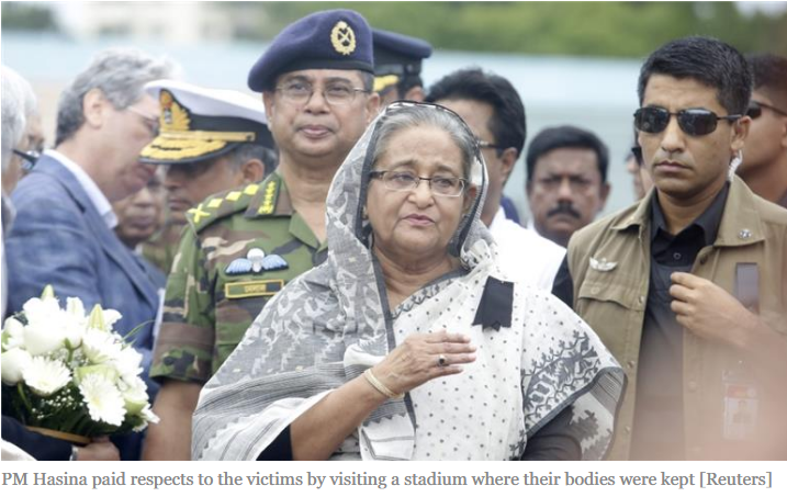 hasina mourns massacre